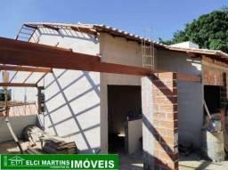 Casa em Igarapé, com 03 quartos, 02 banheiros e um porão (tudo em construção)