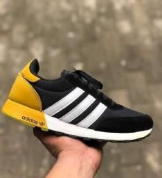 Adidas Neo preto/amarelo (PROMOÇÃO)