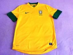 Camisa da Seleção Brasileira autografada pelo Neymar - NOVA