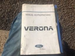 Manual do Proprietário Ford Verona 1990