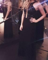 Vestido longo de festa preto