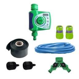 Kit irrigação micro jatos com temporizador eletrônico