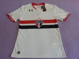 Camisa do São Paulo autografada pelo Cafu - NOVA