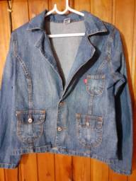 214 - Jaqueta jeans vintage - Tam GG