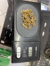 Cordão de ouro maciço