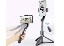 Gimbal Estabilizador L08 celular e gopro Bluetooth Selfie Stick E TriPod