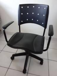 Cadeira escritório computador Giratória Regulagem Altura Apoio Braço Apoio Pés