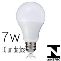 Lâmpadas Led 7w 10 unidades