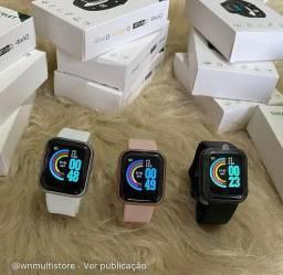 Smartwatch D20 recebe mensagens, lembrete de chamadas me de pressão frequência cardíaca