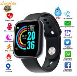 Y68 Relógio Smart À Prova D 'Água Com Rastreador De Frequência Cardíaca Para Ios / Android