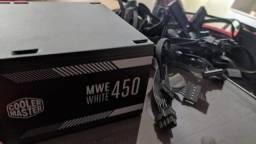 Fonte Cooler Master 450w 80 plus WHITE