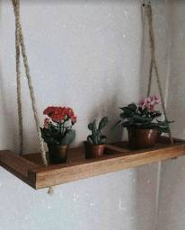 Título do anúncio: Prateleira de madeira com corda sisal