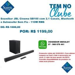 Título do anúncio: Soundbar JBL Cinema SB160 com 2.1 Canais, Bluetooth e Subwoofer Sem Fio - 110W