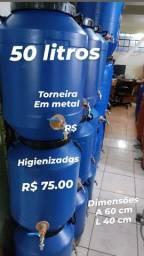 Título do anúncio: Bombonas 50 litros c/torneira em metal R$ 75.