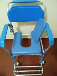 Cadeira de banho sanitária higiênica Dellamed