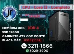 CPU - Cor i3 9100 -3.6GHz 8GB DDr-4 -SSd 120GB