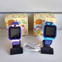 Relógio smart Rastreador Gps Infantil Localizador Alarme Sos