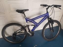 Bicicleta / Bike quadro em alumínio dupla suspensão