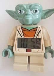 Título do anúncio: Lego Star Wars Figure Alarm Clock Yoda Relógio