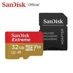 Título do anúncio: Cartão de Memória Micro SD Sandisk Extreme 32GB 100MB/s com Adaptador SD