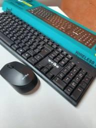 Título do anúncio: Kit teclado + mouse Wireless sem fio