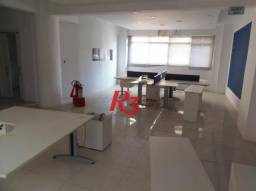Sala para alugar, 160 m² - Centro - Santos/SP