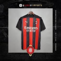 Camisa De Futebol Ac Milan I - 2020 / 2021 - Pronta entrega