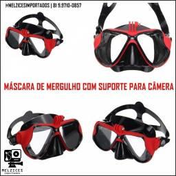 Título do anúncio: Máscara De Mergulho Com Suporte Para Câmeras de Ação + Case