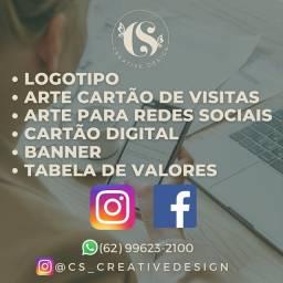 Logotipo , cartão de visitas, arte rede social, banner , cartão digital