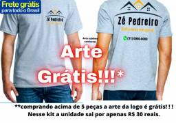Uniforme camiseta 30 reais para empresa qualquer setor