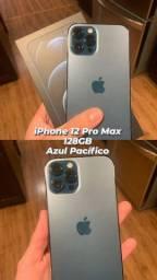 iPhone 12 Pro Max - 128GB - Azul Pacífico - NOVO LACRADO