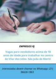 VAGAS COMO VENDEDORAS (OS)