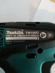 Makita chave de impacto, Bateria 12v,Parafusadeira de impato TW100DWE