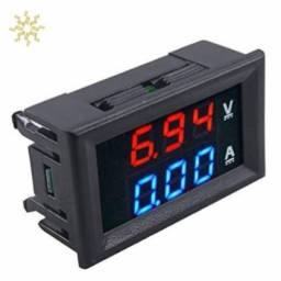 Voltimetro e Amperimetro Digital Led Mini Dc 100 V 10a