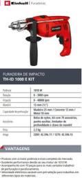 Furadeira de impacto Einhell TH-ID 1010Wats + Kit acessorios
