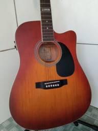 Urgente ( Lindo violão Giannini elétrico folk) aceito cartão