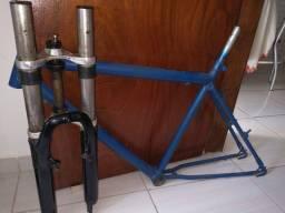 Título do anúncio: Quadro de bike e amortecedor zoom (leia a descrição)