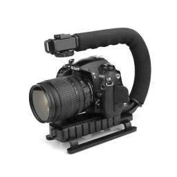 Suporte Estabilizador De Mão Grip Camera Dslr E Filmadora