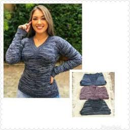 Suéter tricôt modal por R$ 35,00 cada
