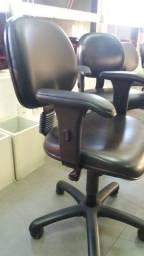 Cadeiras Secretária Giratória com Braços Preta