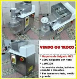 Ofeta pra vender logo Maquina de salgados MCI+ MASSEIRA + FRITADEIRA ÁGUA E ÓLEO