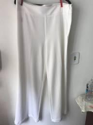Calça Pantalona Branca Feminina G Nova