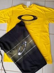 Título do anúncio: Kit Bermudas elastano e camisas