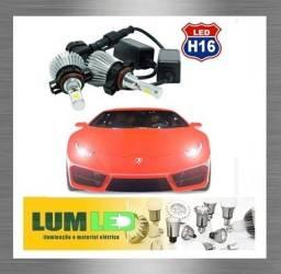 Kit LED H16 Automotivo 2D 6000K 12-24V Super Branco