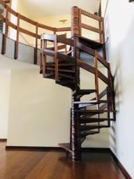 Escada caracol Imbuia Maciça da Esmara
