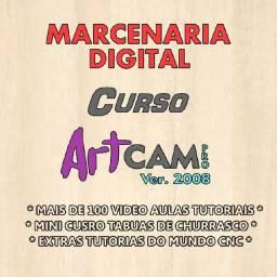 Curso em Vídeos Aulas Tutoriais ArtCAM Pró 2008 + Brindes