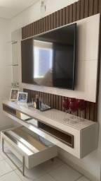Painel Home Suspenso para TV 60 Polegadas Retti 100 MDF Dj Móveis