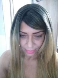 Lace wig ombre hair loiro