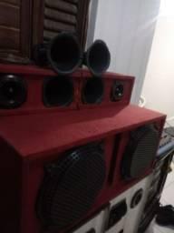 Equipamento de som completo