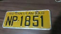 Placa amarela carro antigo Santo Angelo-RS